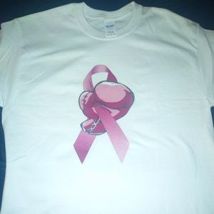 Long sleeve breast cancer tee shirt